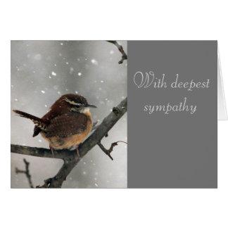 Wren sympathy card