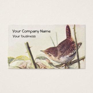 Wren vintage business card