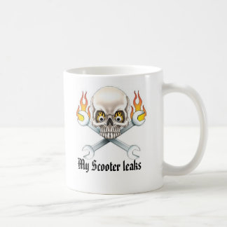 Wrench and Skull, My Scooter leaks Coffee Mug