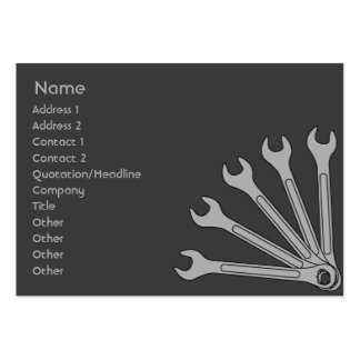 Wrench - Chubby Large Business Card
