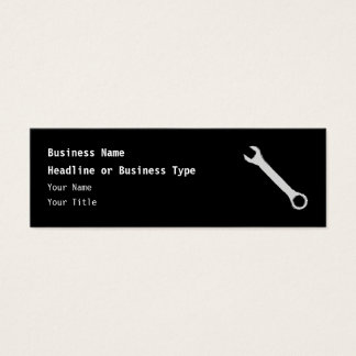 Wrench. Gray and Black. Spanner. Mini Business Card