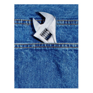 Wrench in Pocket Postcard