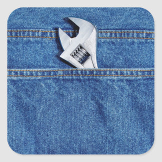 Wrench in Pocket Square Sticker