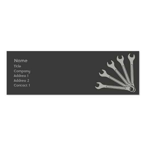 Wrench - Skinny Business Card Templates