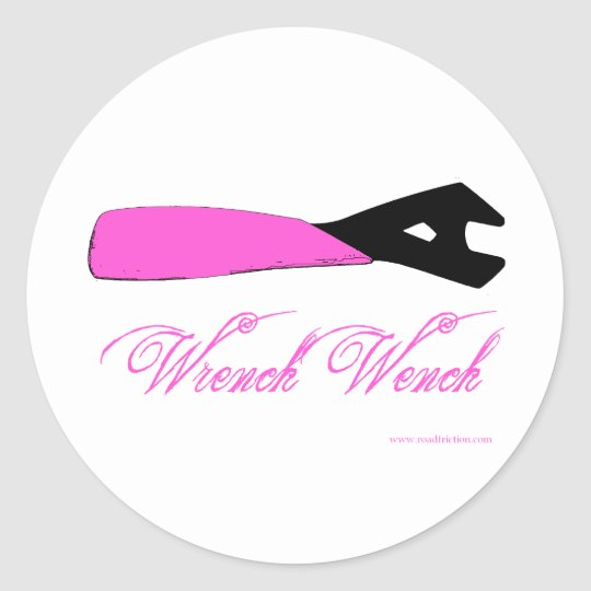 Wrench Wench Classic Round Sticker