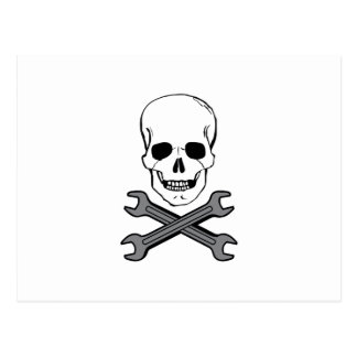 WRENCHES AND SKULL POSTCARDS
