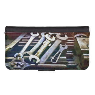 Wrenches in Machine Shop Phone Wallet