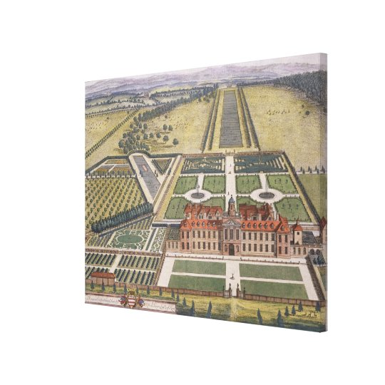 Wrest House in Bedfordshire engraved by Johannes K Canvas Print