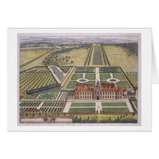 Wrest House in Bedfordshire engraved by Johannes K Greeting Card