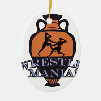 Wrestle Mania! Ceramic Ornament