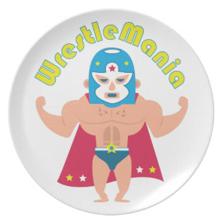 Wrestle Mania Melamine Plate