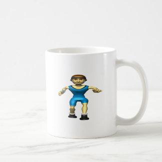 Wrestler 2 classic white coffee mug