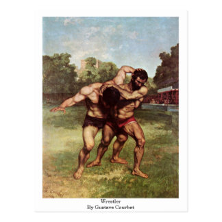 Wrestler By Gustave Courbet Postcard
