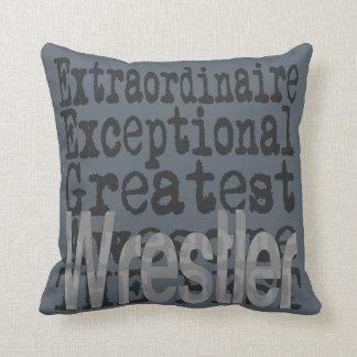 Wrestler Extraordinaire Throw Pillow