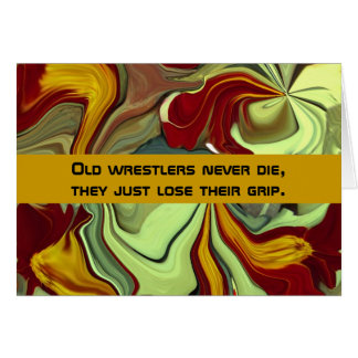 wrestler humor card
