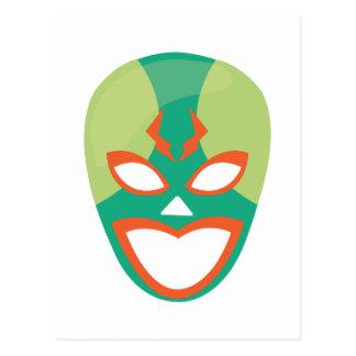 Wrestler Mask Postcard