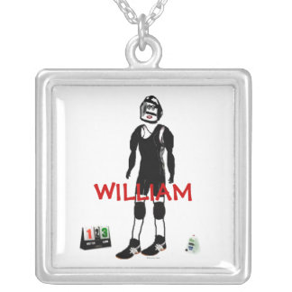 Wrestler Match Silver Plated Necklace