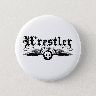 Wrestler Pinback Button