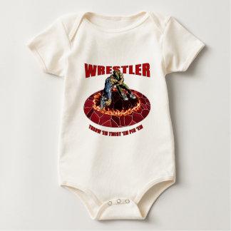 Wrestler Throw 'EM Twist 'Em Pin 'EM Baby Bodysuit