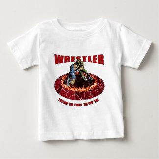 Wrestler Throw 'EM Twist 'Em Pin 'EM Baby T-Shirt