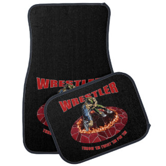 Wrestler Throw 'EM Twist 'Em Pin 'EM Car Floor Mat