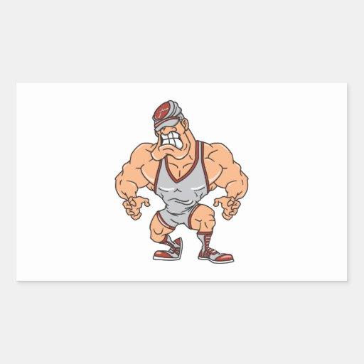 wrestler vector muscular sticker