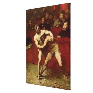 Wrestlers, 1875 canvas print