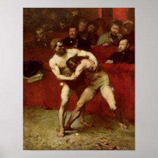 Wrestlers, 1875 print