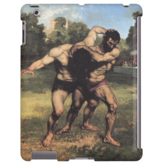 Wrestlers by Gustave Courbet