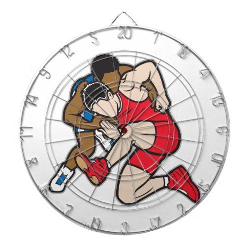 Wrestlers Dartboard