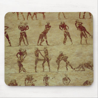 Wrestlers, detail from a tomb wall painting mouse pad