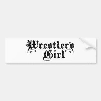 Wrestler's Girl Bumper Sticker