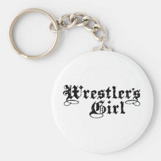 Wrestler's Girl Keychain