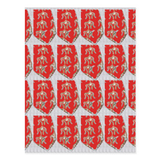 WRESTLERS Goodluck Indian Chinese Wedding Colors Postcard