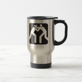 Wrestlers Icon 15 Oz Stainless Steel Travel Mug