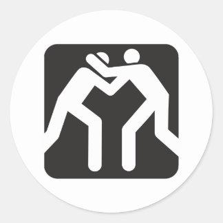 Wrestlers Icon Classic Round Sticker