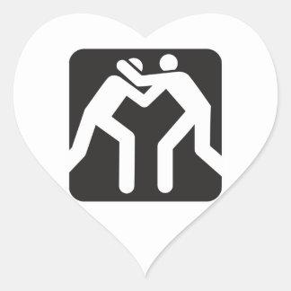 Wrestlers Icon Heart Sticker