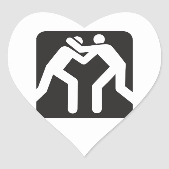 Wrestlers Icon Heart Sticker