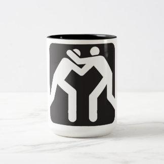 Wrestlers Icon Two-Tone Coffee Mug