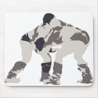 Wrestlers in Mongolia Mouse Pad