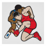 Wrestlers Print