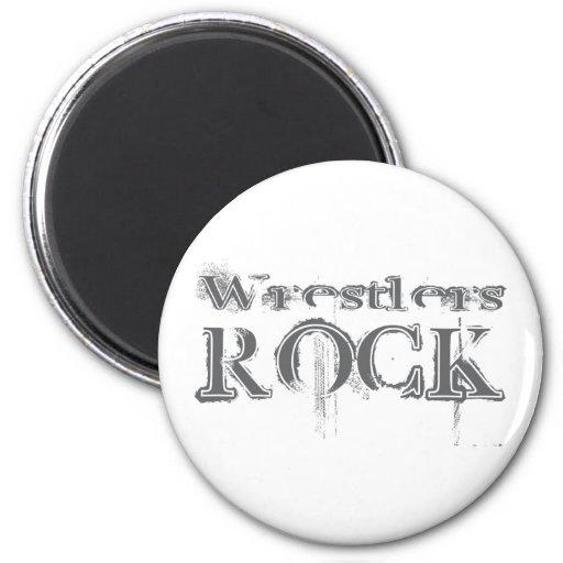 Wrestlers Rock 2 Inch Round Magnet