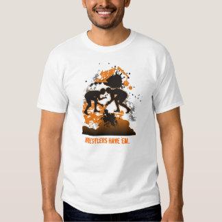 Wrestler's t-shirt Orange and Black