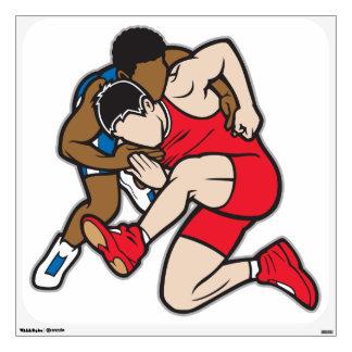 Wrestlers Wall Sticker