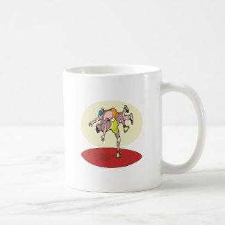 Wrestling 3 classic white coffee mug