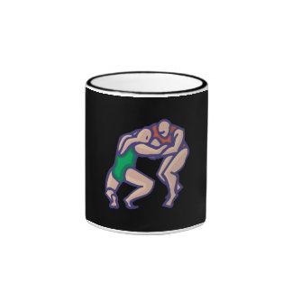 Wrestling 5 ringer coffee mug