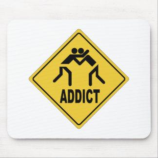 Wrestling Addict Mouse Pad