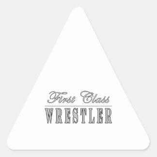 Wrestling and Wrestlers : First Class Wrestler Triangle Sticker
