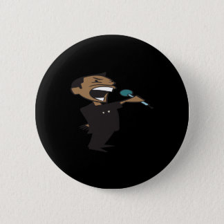 Wrestling Announcer Pinback Button