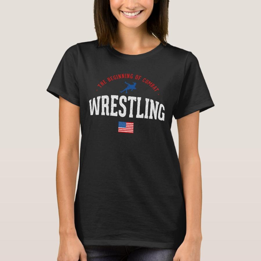 Wrestling Beginning Of Combat Usa Theme Gift Light T-Shirt - Best Selling Long-Sleeve Street Fashion Shirt Designs